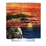 Lone Cypress Shower Curtain