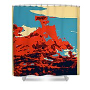 Lone Cypress Poster Shower Curtain