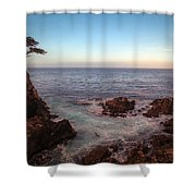 Lone Cyprus Pebble Beach Shower Curtain