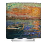 Lone Dinghy Shower Curtain