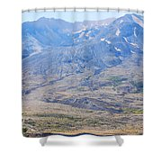 Lone Evergreen - Mount St. Helens 2012 Shower Curtain