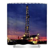 Lone Giant With Blue Sky Shower Curtain