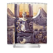 Lone Guardian Shower Curtain by Max Good