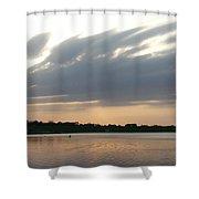 Lone Kayaker Shower Curtain