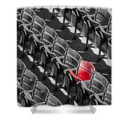 Lone Red Number 21 Fenway Park Bw Shower Curtain