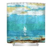 Lone Sail Shower Curtain