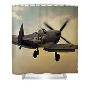 Lone Spitfire Shower Curtain
