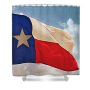 Lone Star Flag Shower Curtain