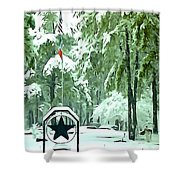 Lone Star State - A Texas Landscape Shower Curtain