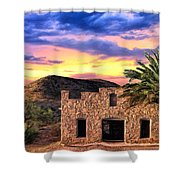 Lone Star Sunset Shower Curtain