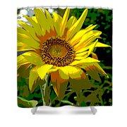Lone Sunflower Shower Curtain