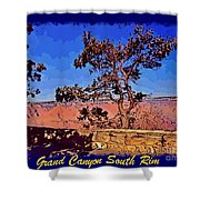 Lone Tree South Rim Poster Shower Curtain