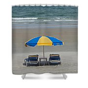 Lonely Beach Chairs Shower Curtain
