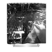 Lonely Bench 5 Shower Curtain
