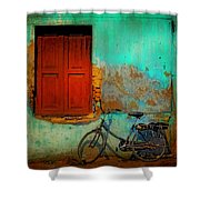 Lonely Bicycle Shower Curtain