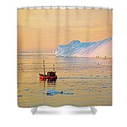 Lonely Boat - Greenland Shower Curtain