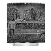 Lonely Bus  Shower Curtain