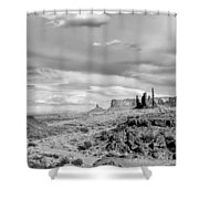 Lonely Cloud And Totem Pole - Monument Valley Tribal Park Arizona Shower Curtain