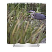 Lonely Heron Shower Curtain
