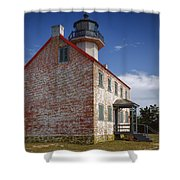 Lonely East Point Lighthouse Shower Curtain