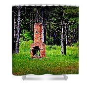 Lonely Fireplace Shower Curtain