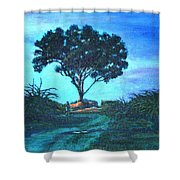 Lonely Giant Tree Shower Curtain