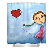 Lonely Girl Shower Curtain
