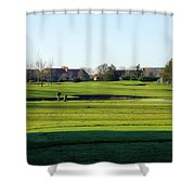 Lonely Golfer Shower Curtain