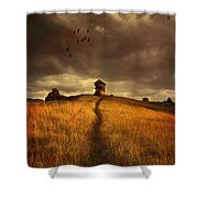 Lonely House On The Hill Shower Curtain