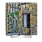 Lonely Lane In Sarlat France Shower Curtain