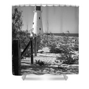 Lonely Light House  Shower Curtain
