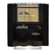 Lonely Bar Scene Shower Curtain
