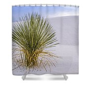 Lonely Yucca Plant In White Sands Shower Curtain