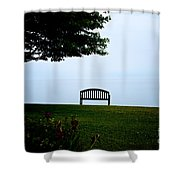 Lonesome Bench Shower Curtain