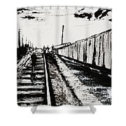 Lonesome Whistle Shower Curtain