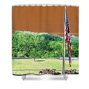 Lonestar Park - Backstretch - Photopower 2204 Shower Curtain