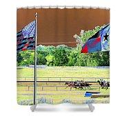 Lonestar Park - Backstretch - Photopower 2205 Shower Curtain