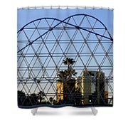 Long Beach Lines Shower Curtain