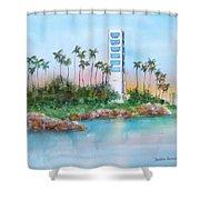 Long Beach Oil Island Shower Curtain