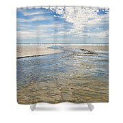 Long Beach Outflow Shower Curtain