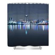 Long Beach Skyline Shower Curtain