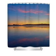 Long Beach Sunset Shower Curtain