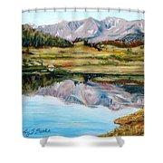 Long Draw Reservoir Shower Curtain