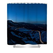 Long Exposure In Serra Da Estrela Portugal Shower Curtain