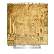 Long Gallery At Strawberry Hill Shower Curtain