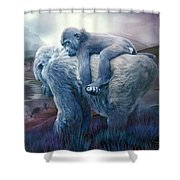 Silverback Gorilla - Long Journey Home Shower Curtain