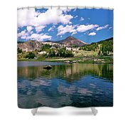 Long Lake Beartooth Pass Shower Curtain