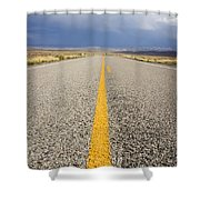 Long Lonely Road Shower Curtain
