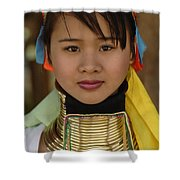 Long Necked Woman Of Thailand Shower Curtain