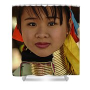 Long Necked Woman Thailand 4 Shower Curtain